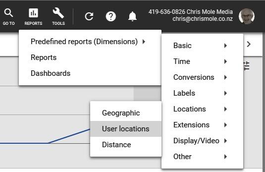 user locations